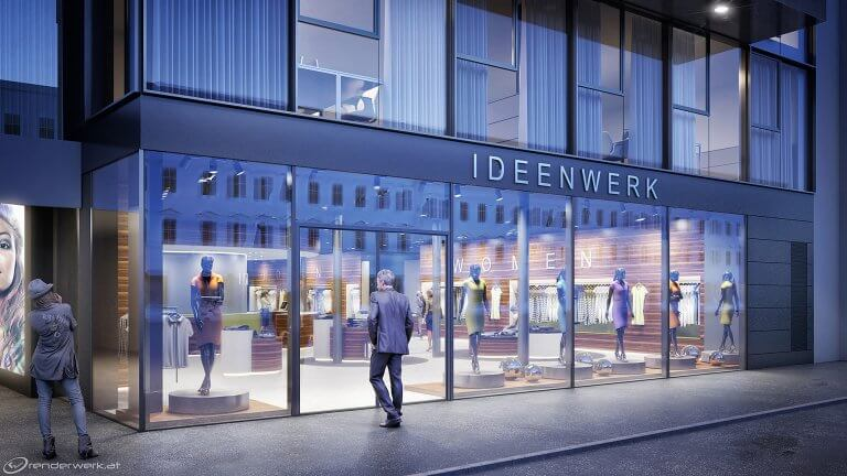 Come In 3D Shop Rendering Architektur Visualisierung