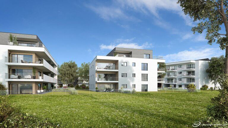 New Neighbours 3D Immobilien Rendering Wohnanlage